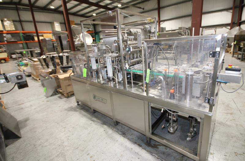 BULK BID LOT #35 TO LOT #39 INCLUDES: 2017 PACKLINE 4-WIDE CUP FILLER, 14-HEAD ROTARY SCALE, S/S