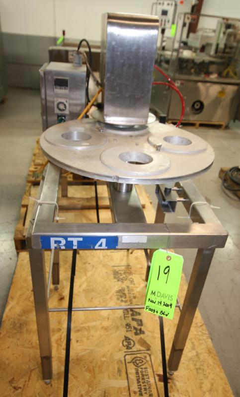 """Squire International Packaging 4-Station Rotary Sealer with 3-1/4"""" Change Parts and Controls,"""
