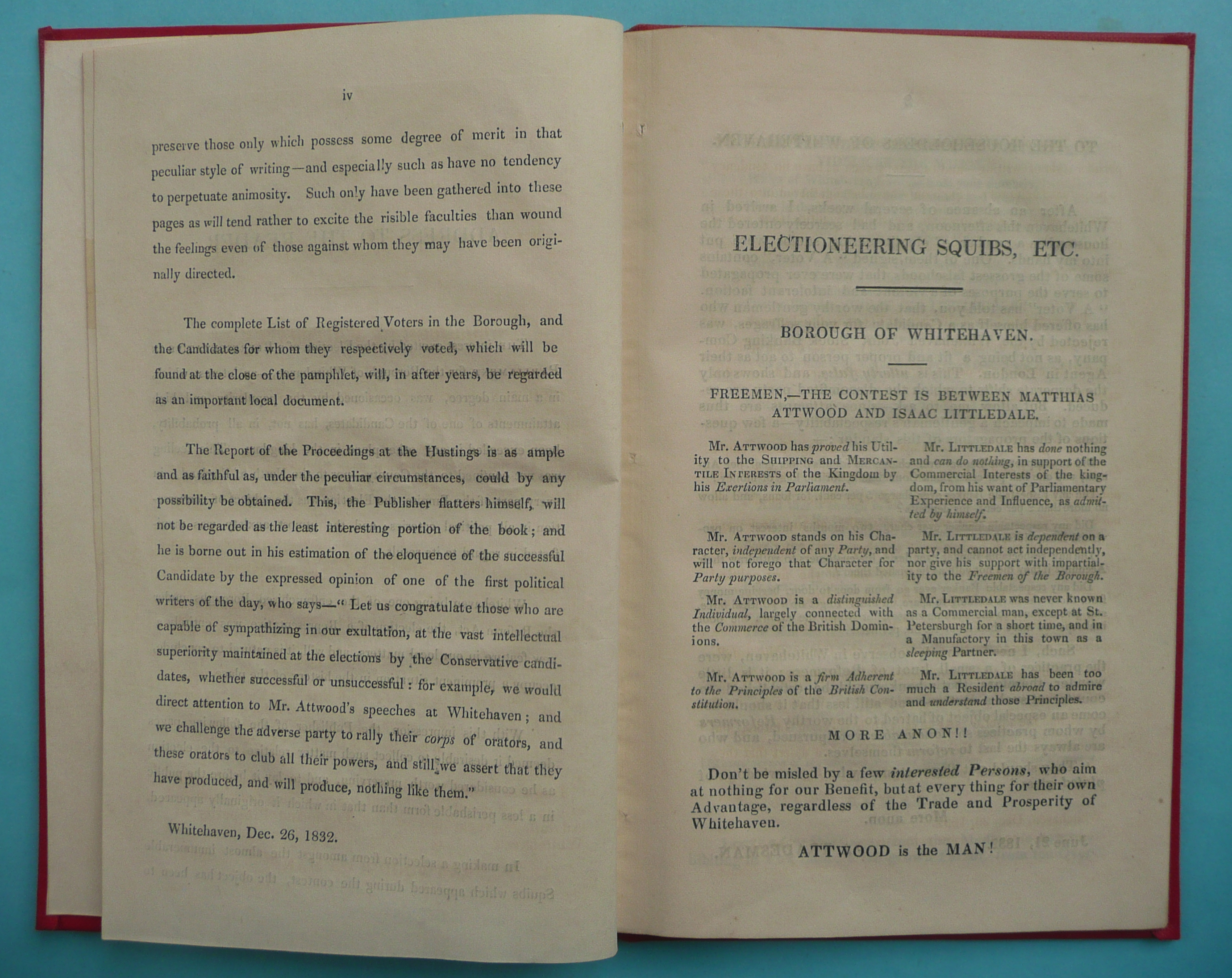Lot 34 - 1832 General Election in Whitehaven: a rare pottery beaker printed in blue for the passing of the