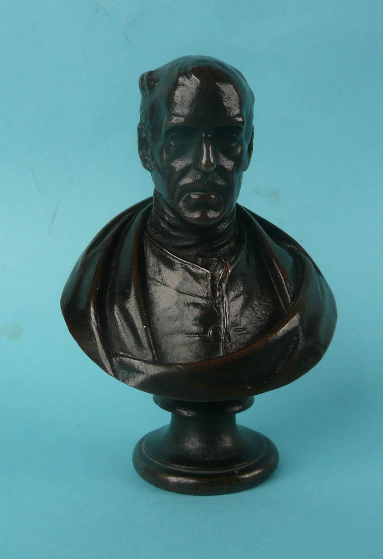 Lot 28 - 1852 Wellington: a good small bronze by Baron Carlo Marochetti the reverse signed and dated Novbre