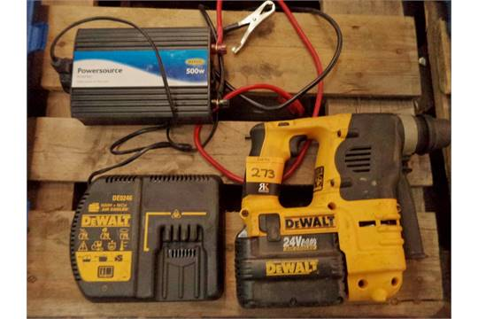 dewalt 24v air cooled cordless drill system model dc223 with battery