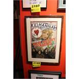 Kill Hannah Signed Framed Poster