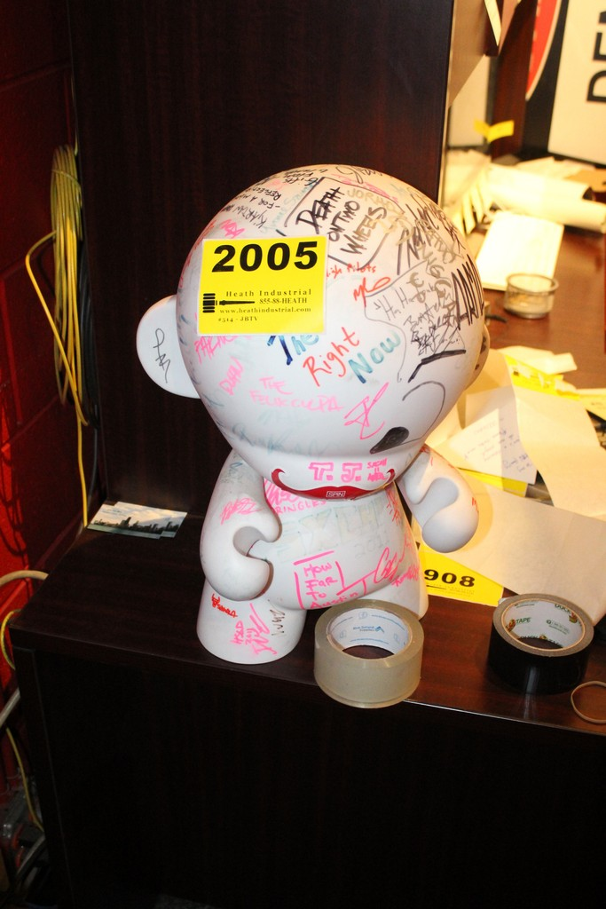 Plastic Doll Autographed by various artists from South by Southwest Festival