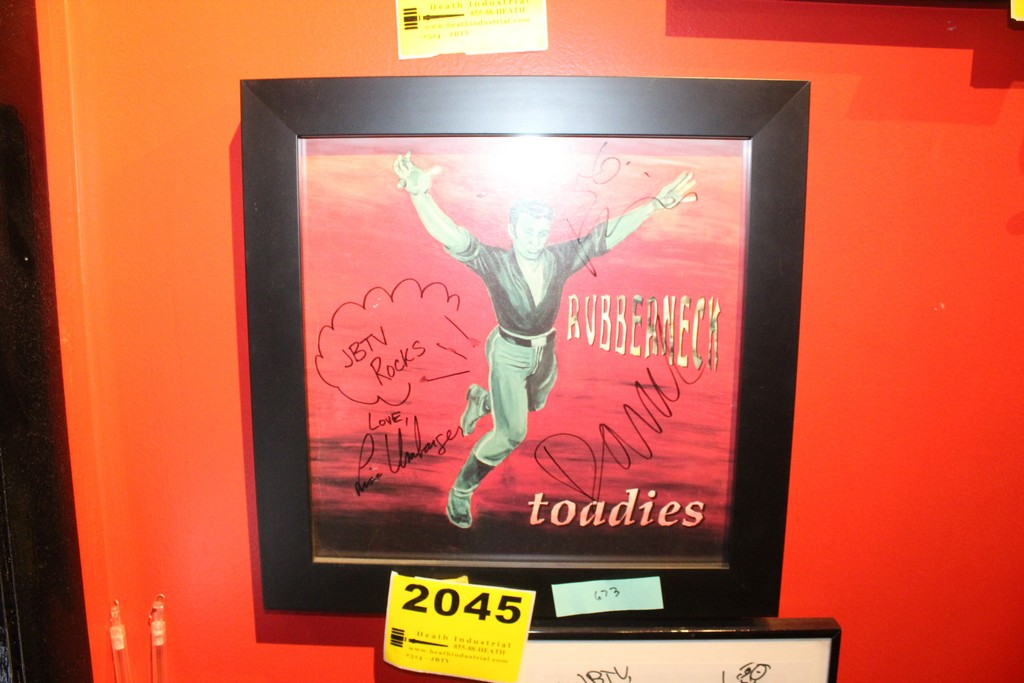 The Toadies Signed Framed Poster