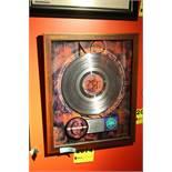 """A Perfect Circle Commemerative """"Mer de Noms"""" Framed Platinum Album Display"""