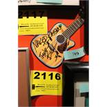 Naked Raygun Signed Postcard Guitar Shaped