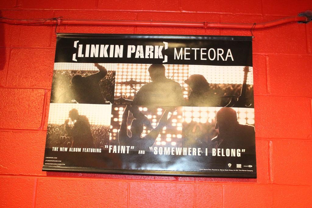 Linkin Park Meteora Plastic Scrolling Poster, Cabaret Metro Feb 18
