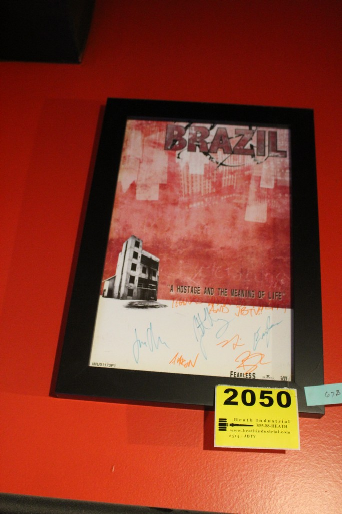 Brazil A Hostage and the Meaning of Life Framed Signed Poster