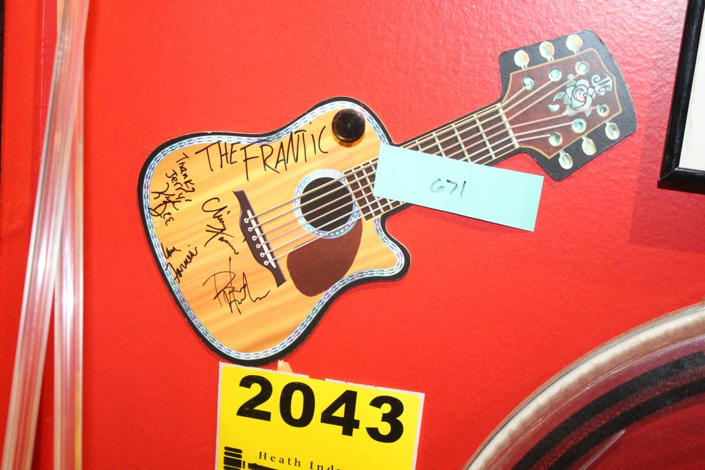 The Frantic Signed Postcard Guitar Shaped
