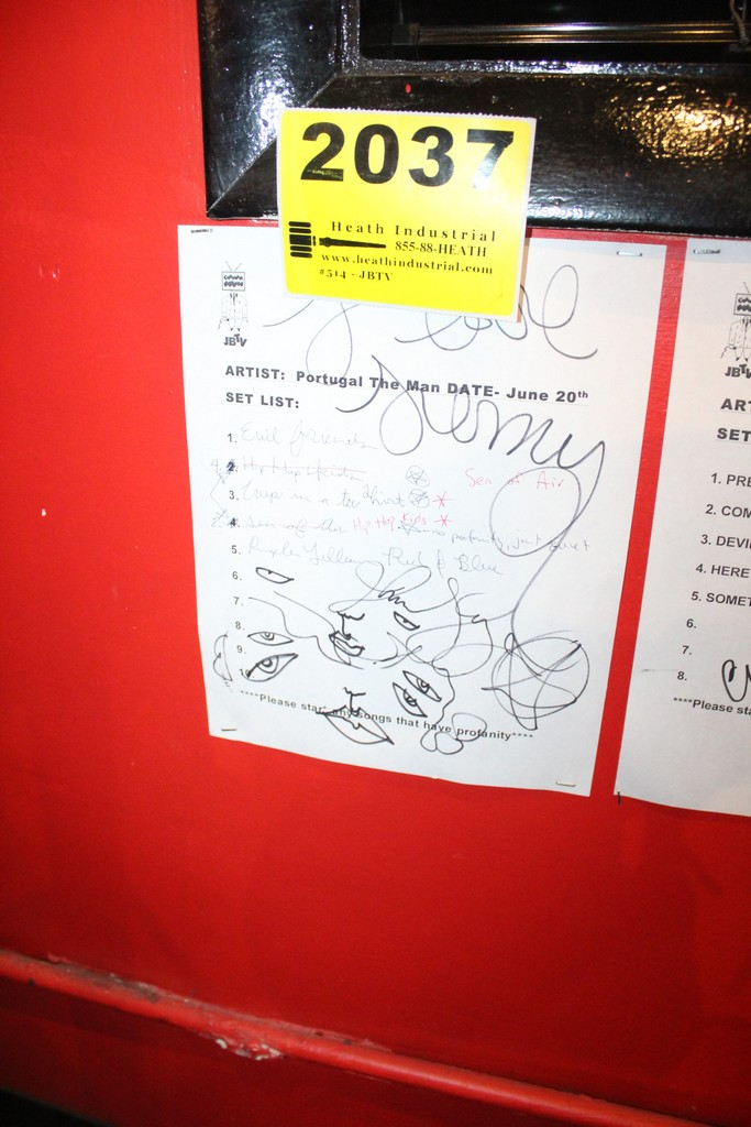 Portugal the Man Signed Set List