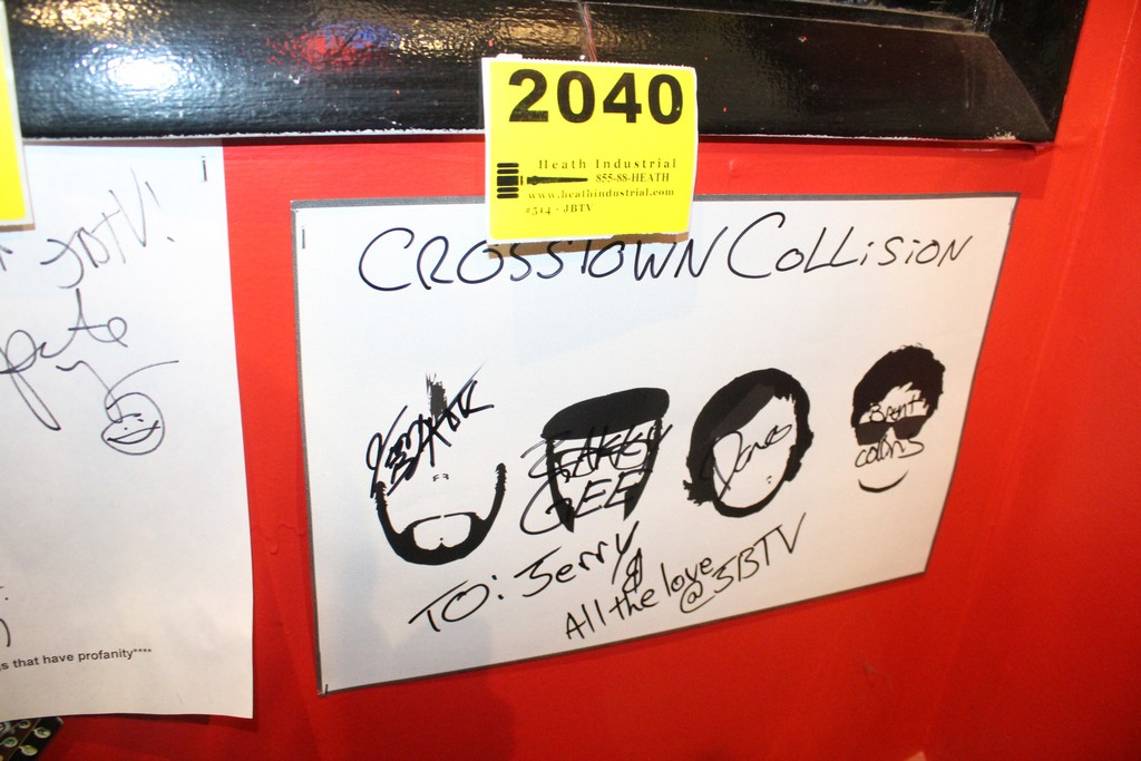 Crosstown Collision Signed Poster