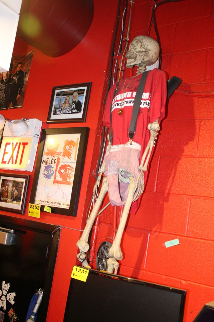 Imitation Skeleton with Signed Clothes, New Found Glory Signed Shirt & White Mystery Signed