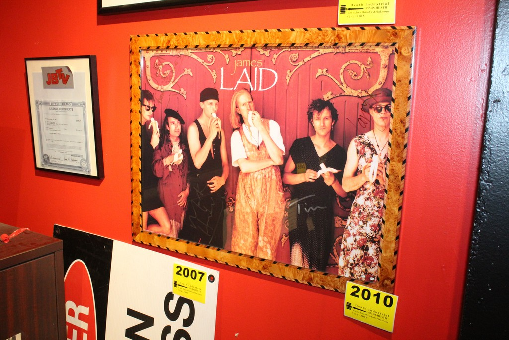James Laid Signed Framed Poster
