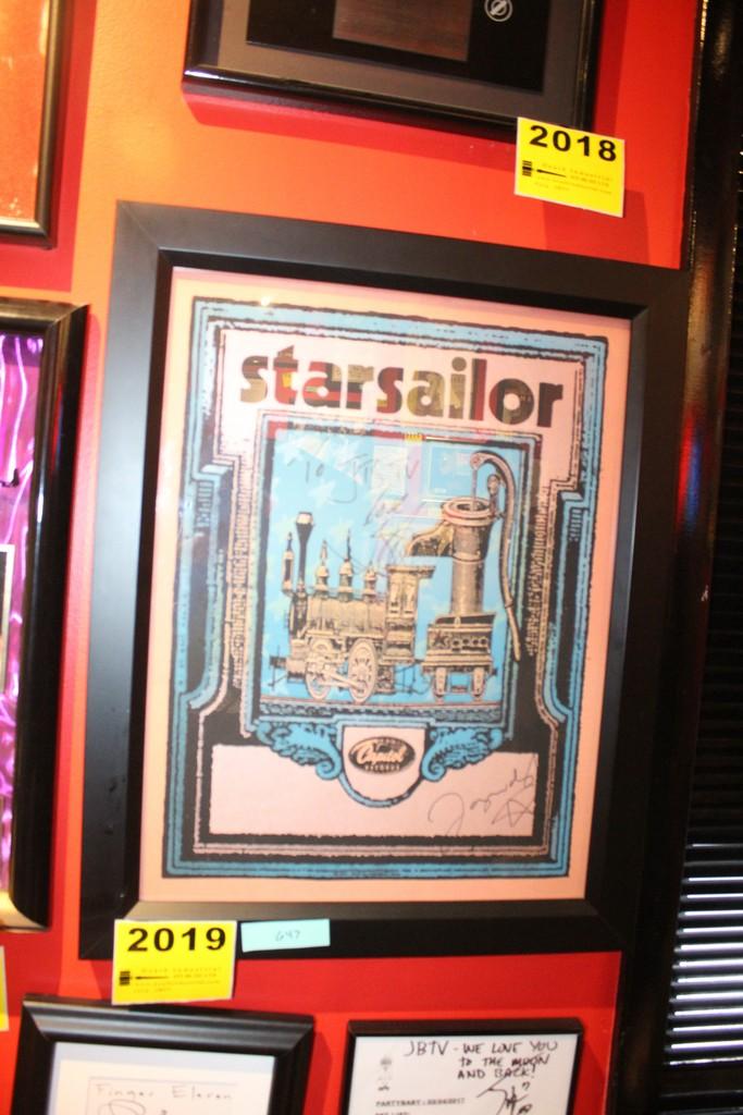 Starsailor Signed Framed Poster