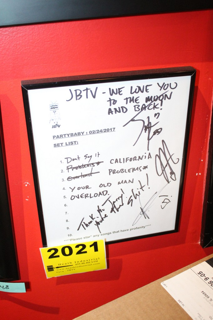 Partybaby Signed JBTV Framed Set List
