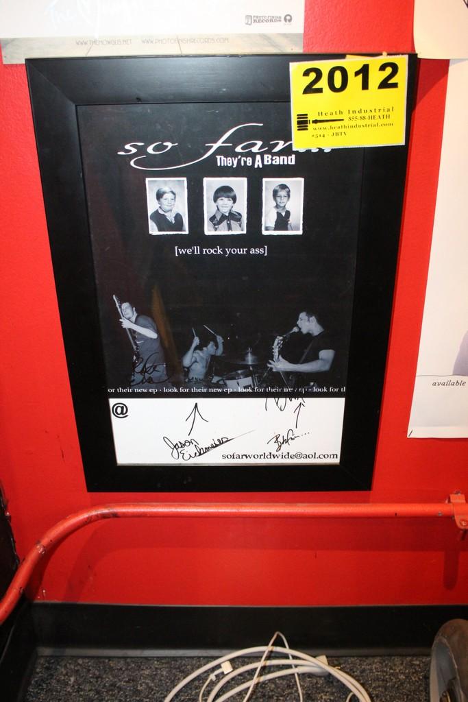 So Far Signed Framed Poster