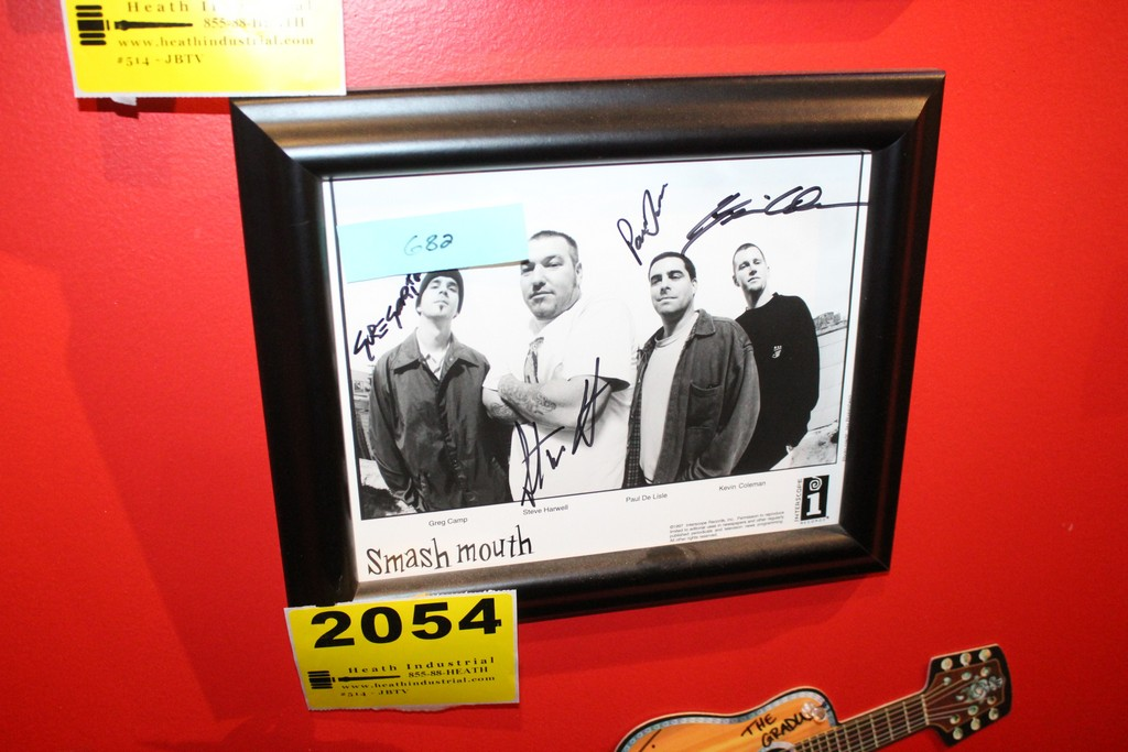 Smashmouth Signed Framed Photo