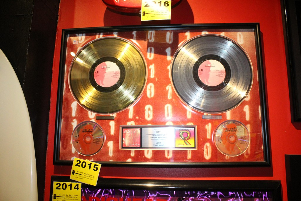 Bush 6Teen Stone Platinum Record Commemerative Display