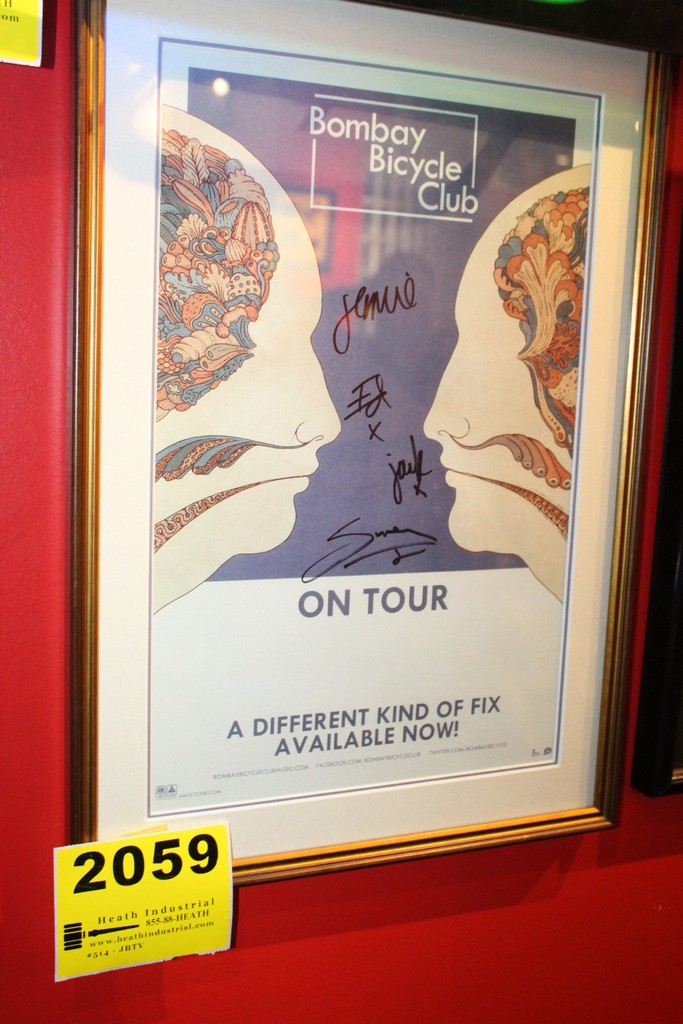 Bombay Bicycle Club Signed Framed Poster
