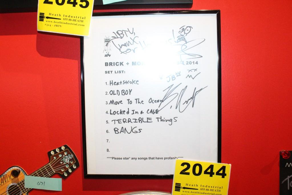 Brick And Mortar Signed JBTV Set List