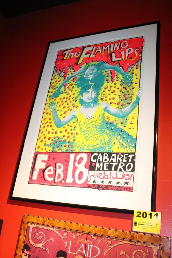Flaming Lips Signed Concert Framed Poster