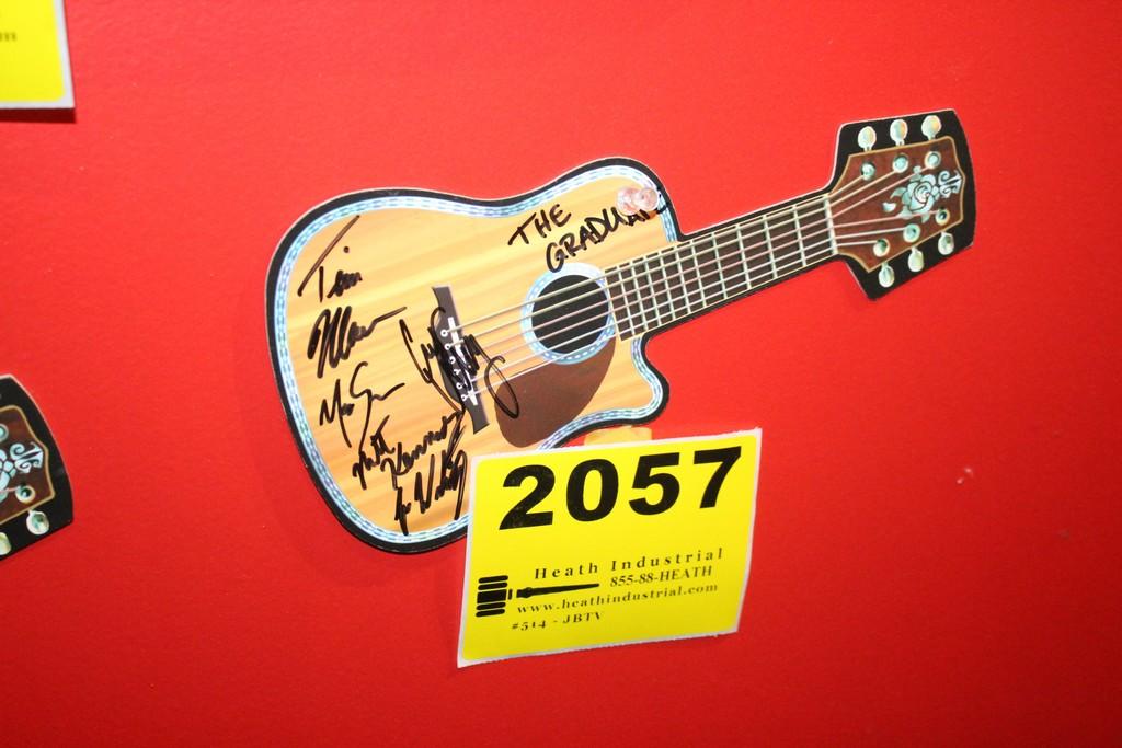 The Graduate Signed Postcard Guitar Shaped
