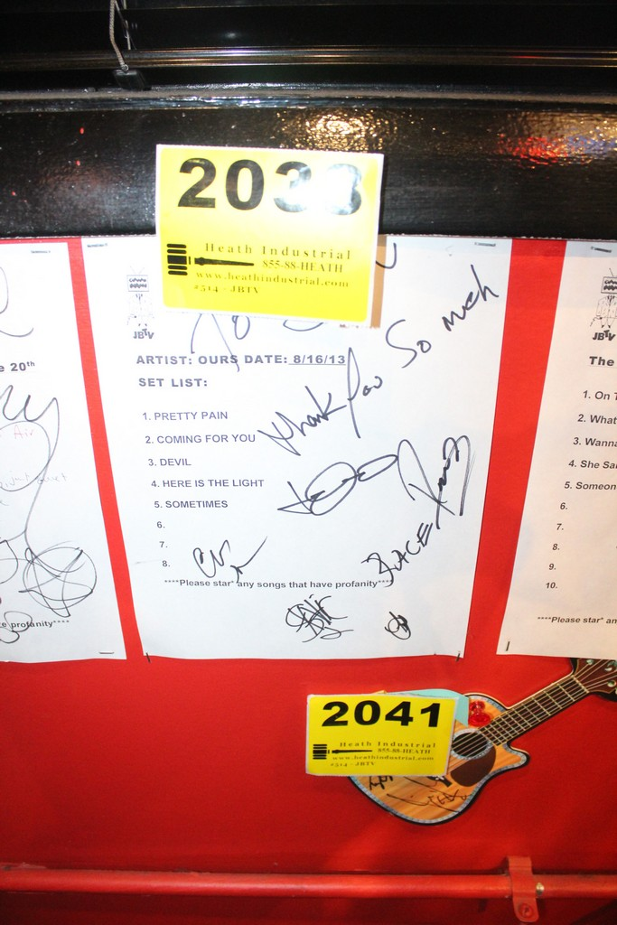 Ours Signed Set List