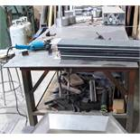 """APPROX. 12'L X 43""""W X 1/2"""" THICK WELDING TABLE (NO CONTENTS)"""