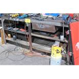"""METAL WORKBENCH W/ 5"""" VISE (NO CONTENTS)"""