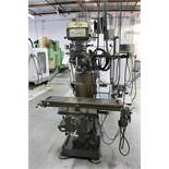 "KBC VERTICAL MILL, 9"" X 42"" TABLE, POWER FEED, VARIABLE SPEED, 60-4200 RPM, MITUTOYO DRO"