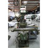 "POWERMILL KONDIA VERTICAL MILL, FV-1, 9"" X 42"" TABLE, VARIABLE SPEED, POWER FEED & KNEE, 50-4000"
