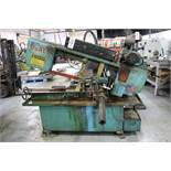 "DOALL HORIZONTAL BAND SAW, MODEL C916A, 9"" X 16"" CAPACITY, X/N 502-93221, W/ OUT FEED CONVEYOR"