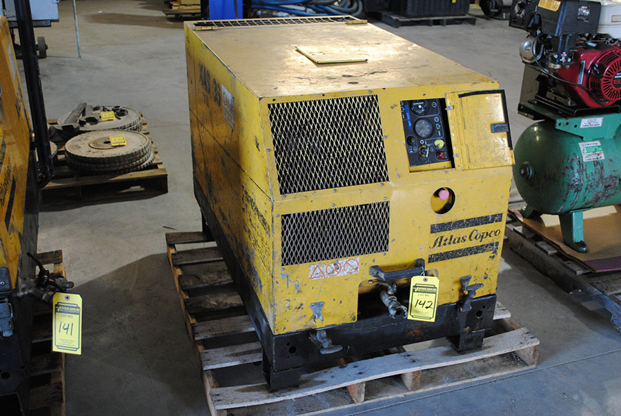 ATLAS COPCO AIR COMPRESSOR, YANMAR DIESEL ENGINE, 72 CFM, MODEL