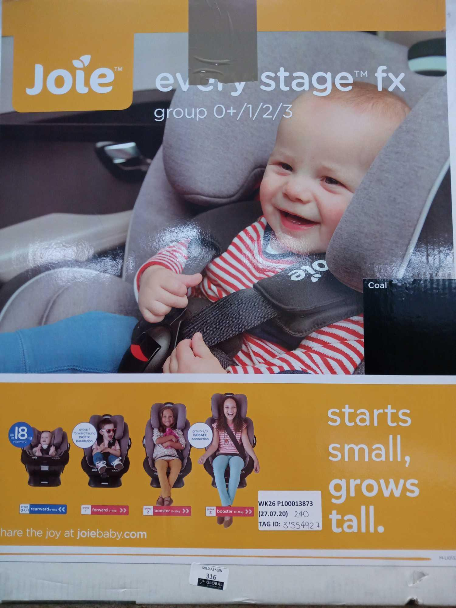 RRP £240 Lot To Contain A Jole Every Stage Car Seat