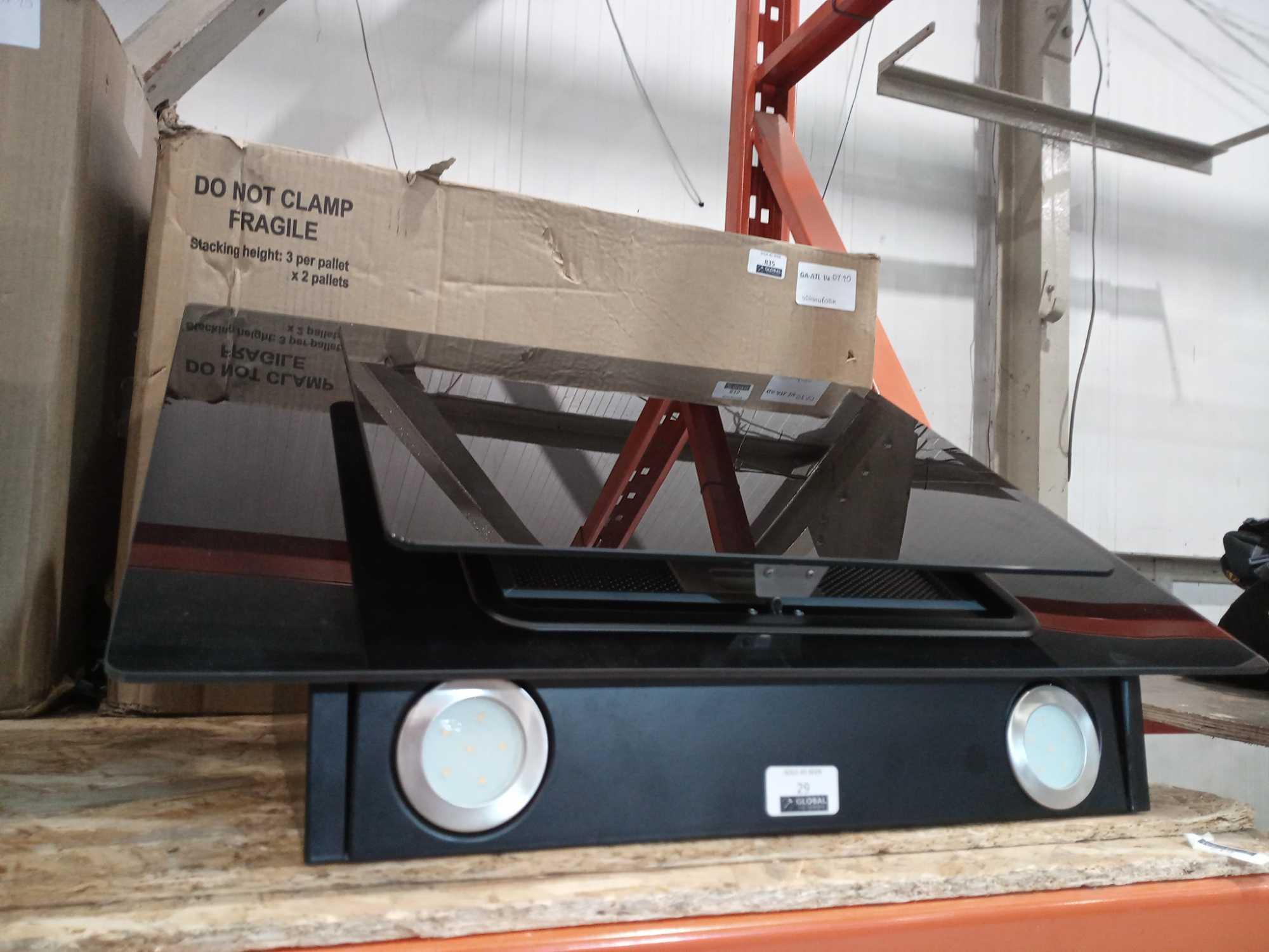 RRP £60 Box 60Cm Angled Glass Hood