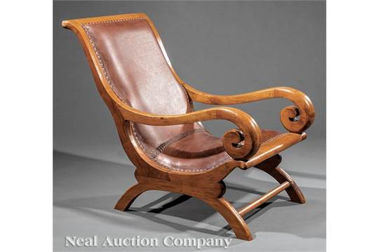 Surprising American Carved Hardwood Campeche Chair Scrolled Arms Andrewgaddart Wooden Chair Designs For Living Room Andrewgaddartcom