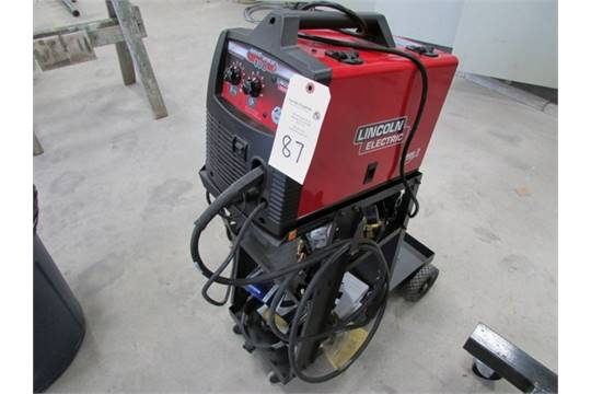 Lincoln Mig Pak 180 Welder On Cart W Mask And Misc