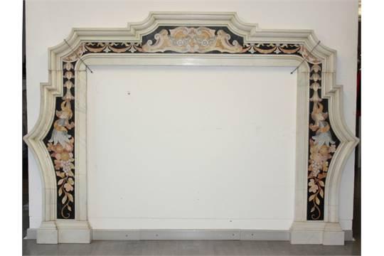 Camino In Marmo Bianco : Caminetto a pellet con cornice in marmo bianco spazzacamino