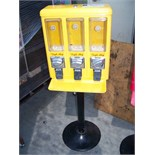 TRI SELECT CANDY VENDOR STAND YELLOW