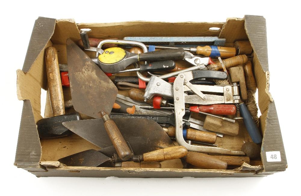 Lot 48 - A box of tools G