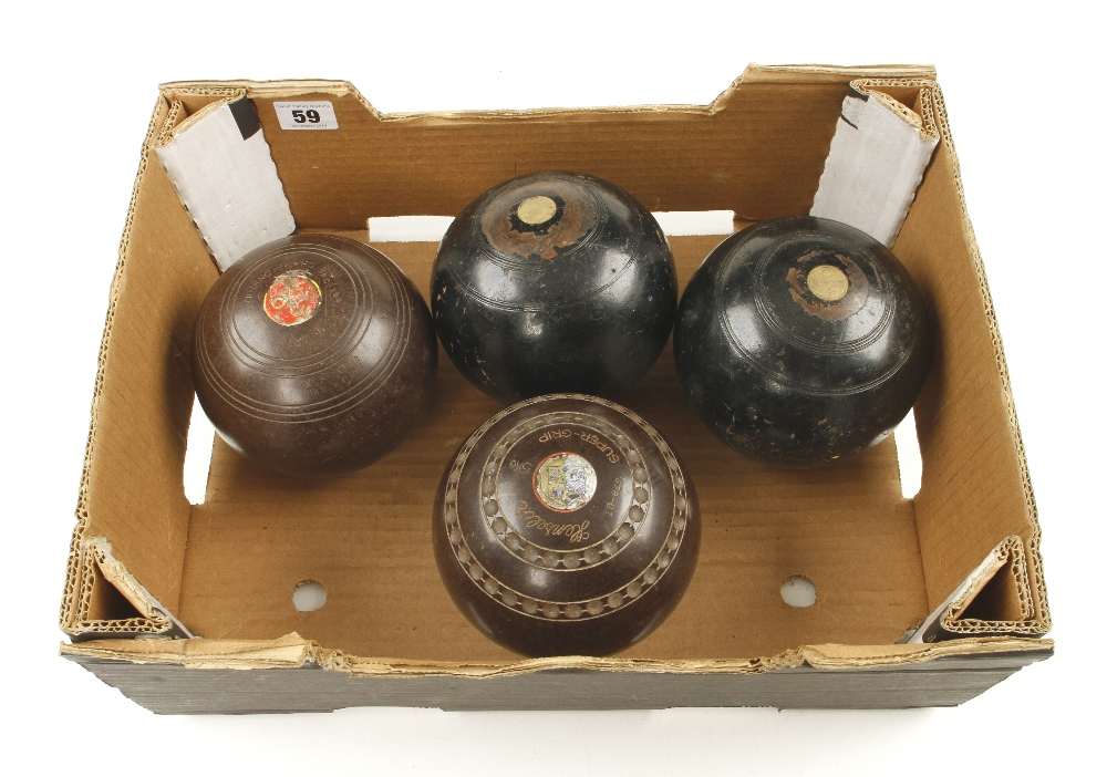 Lot 59 - Four bowls (not a set) G