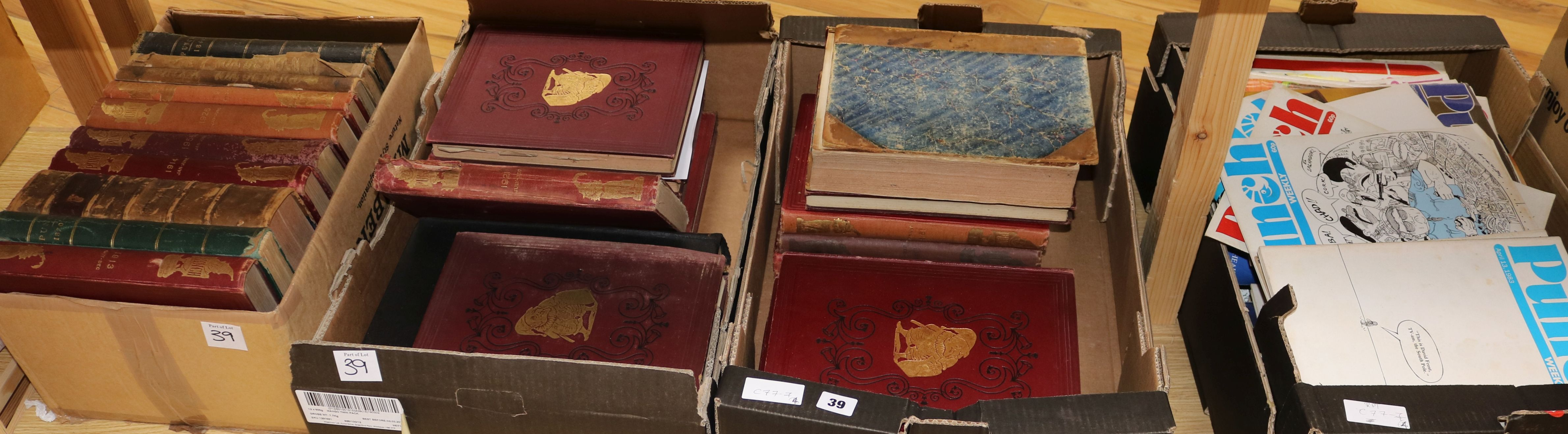 Lot 39 - Three boxes of 'Punch' books and seven boxes of 'Punch' magazines