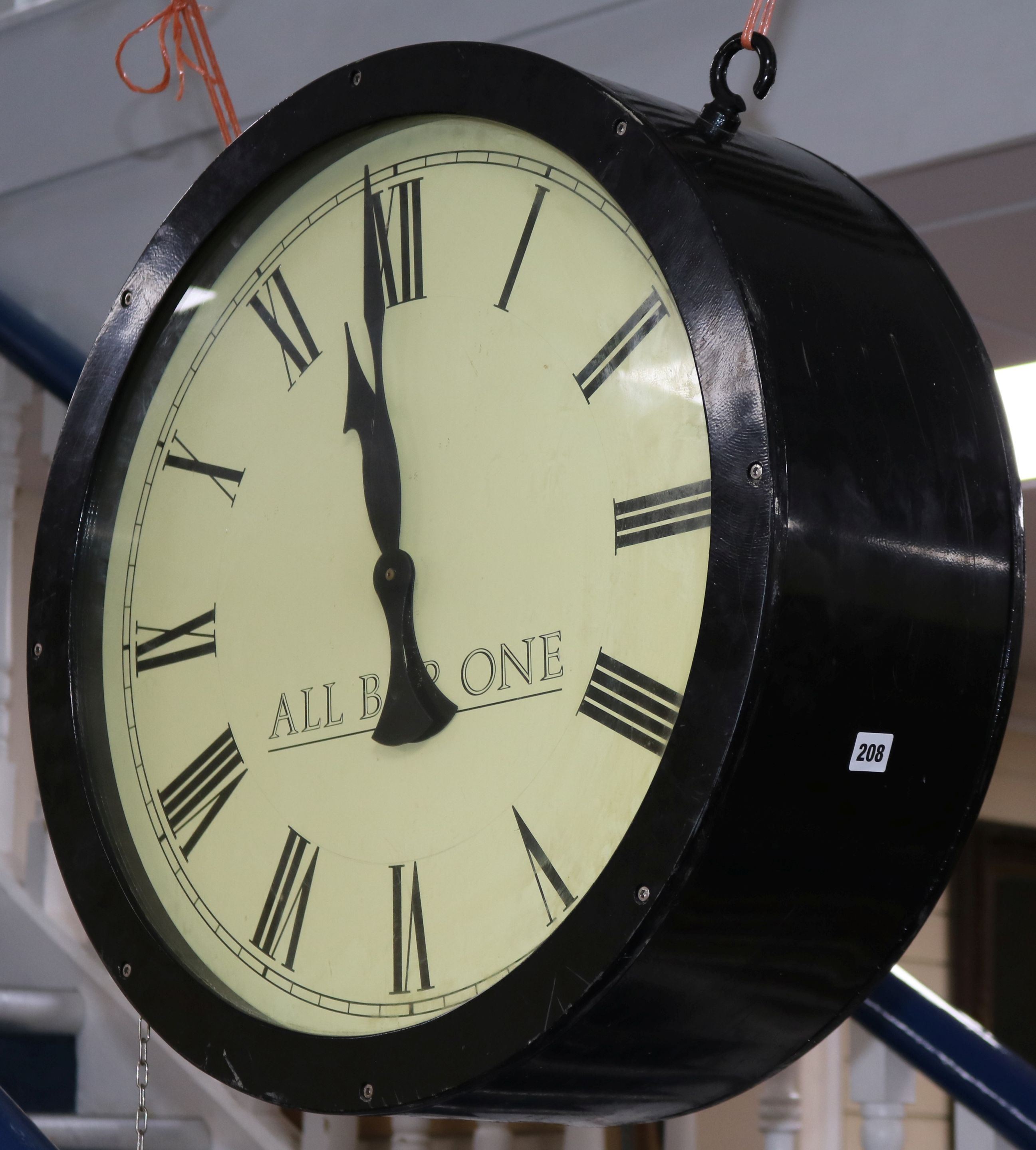 Lot 208 - All Bar One double sided wall timepiece 63.5cm