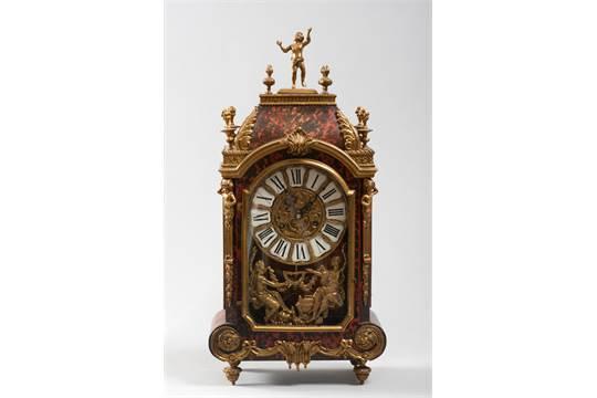 Orologio da tavolo francia sec xix in bronzo base dorata e