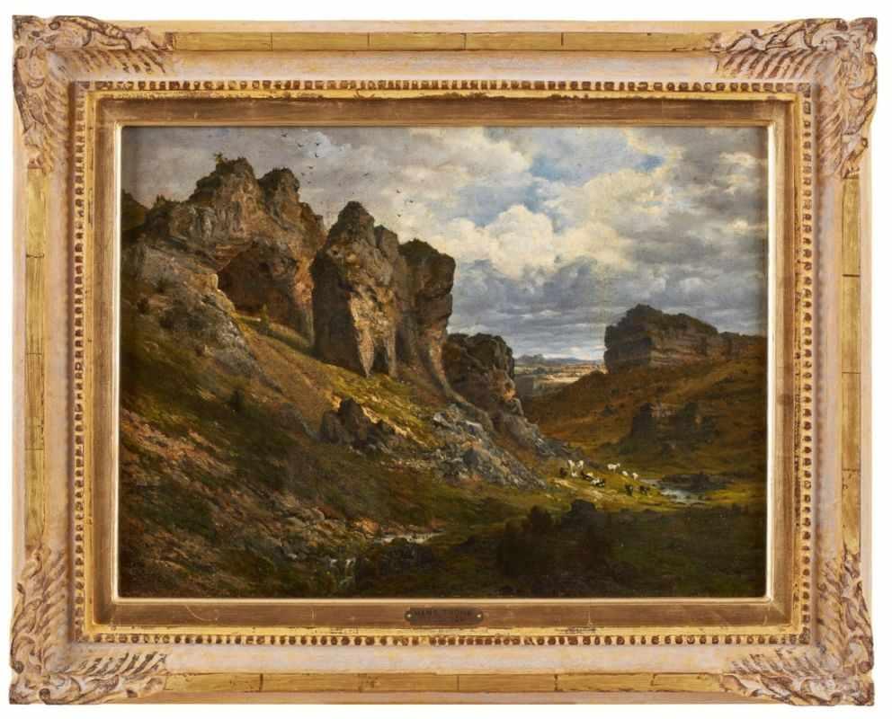 Lot 50 - Gemälde Hans Thoma1839 Oberlehen - 1924 Karlsruhe Ab 1859 an der Karlsruher Kunstschule, wo er