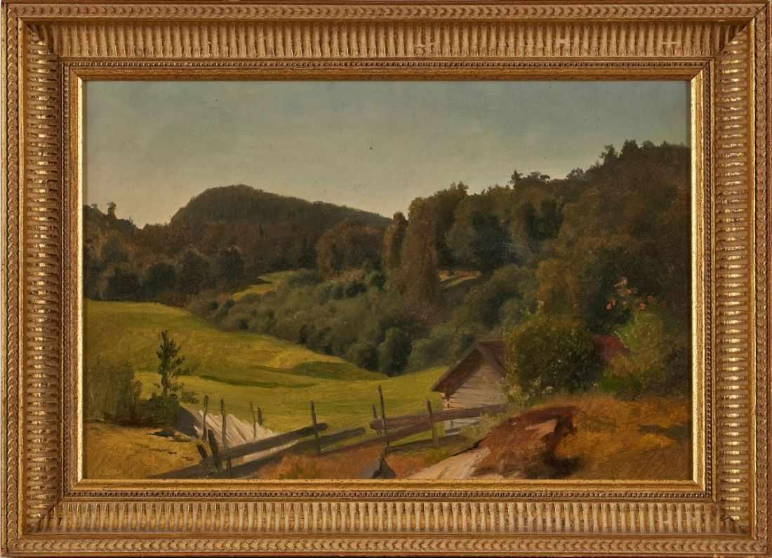 Lot 34 - Gemälde Richard Fresenius1844 Frankfurt - 1903 Monaco Landschaftsmaler. Studium der Malerei am