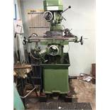 """Grizzly Machine Vertical Mill 2.5HP, 8"""" x 30"""" Table Dimensions: 43"""" x 45"""" x 65"""" Tall"""