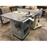 """Delta Model 34-802 10"""" Unisaw, 27"""" x 36"""" Table c/w fence s/n 86F13554"""
