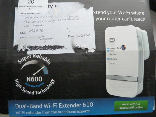 Lot 20 - *BT Dual Band Wifi Extender