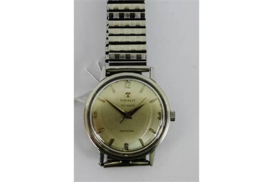 Gents vintage Tissot Seastar stainless steel wristwatch on